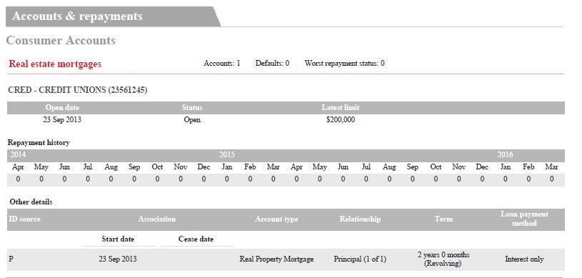 Credit Score Repayment History